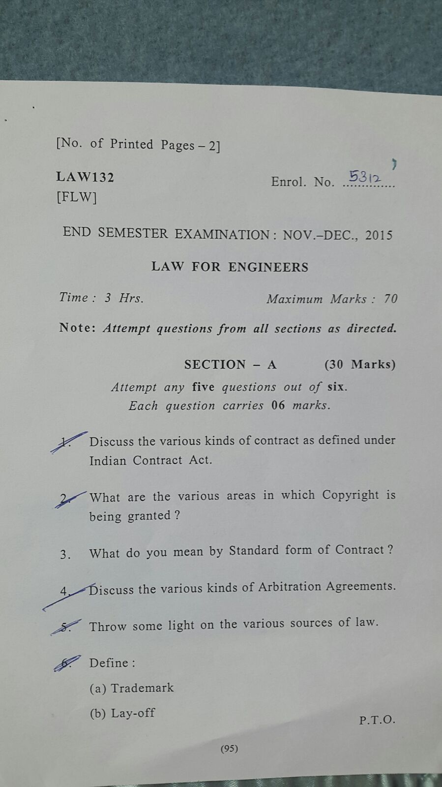 Amity law for engineers question paper 2015-law01.JPG