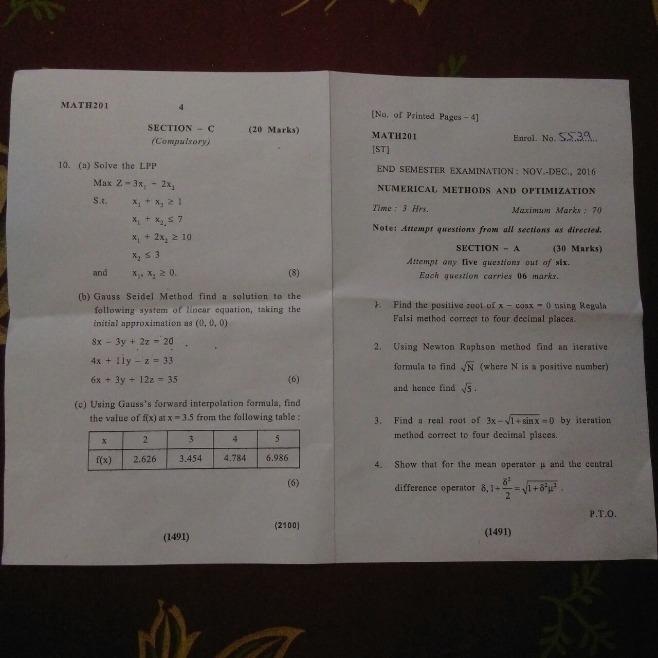 ASET #MATH201 3rd sem maths end term paper 2016-math1.jpeg