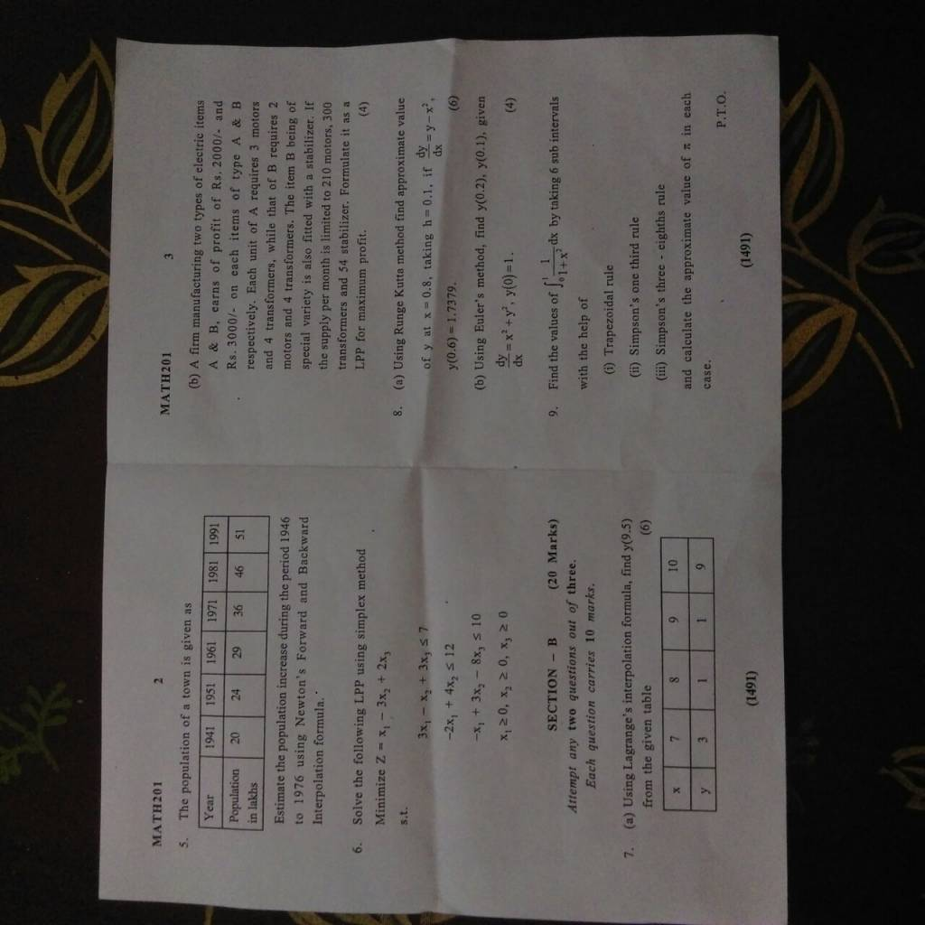 ASET #MATH201 3rd sem maths end term paper 2016-maths2.jpeg