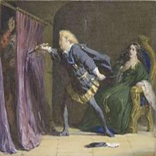 HAMLET BY WILLIAM SHAKESPEARE: AN ANALYSIS-Hamlet_stabs_Polonius.jpg