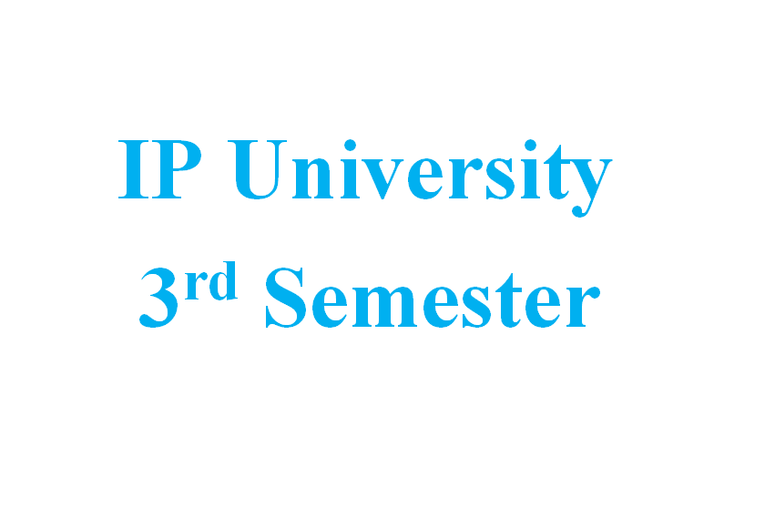 Attachment for Knowledge 'IP University - B tech 3rd Sem