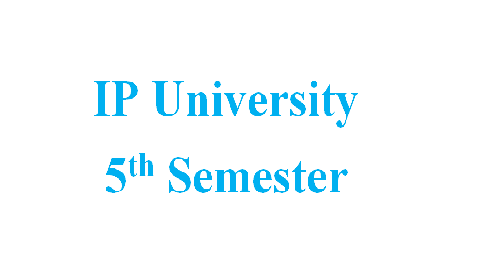Attachment for Knowledge 'IP University- 5th Semester Notes