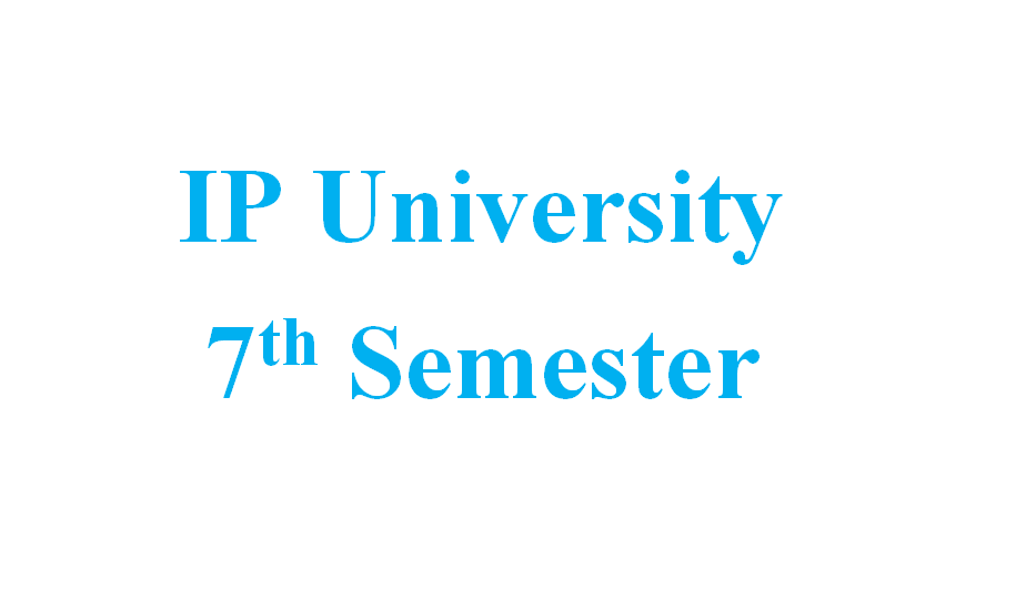 Attachment for Knowledge 'IP University- 7th Sem Notes(CS